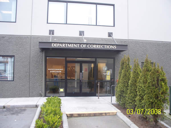 image of the outside doors of the seattle community justice center